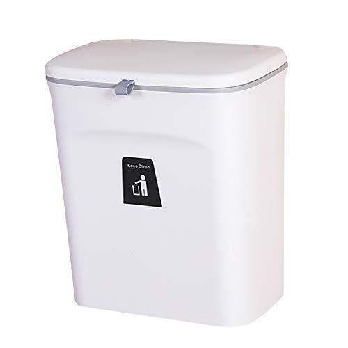 Mülleimer Küchen-Abfalleimer aufhängbaren Küchenmülleimer mit Deckel Abfallbehälter Mülleimer für die Tür unter der Spüle Mülleimer Mülltrennung 9L