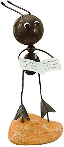 ZYW Figura decorativa de hormigas de hierro forjado para la oficina, el salón o la mesa, estilo A