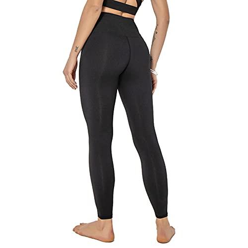 JNWBFC Pantalones De Yoga Pantalones De Bolsillo para Mujer Costuras Huecas Levantamiento De Cadera Medias Deportivas Ajustadas Leggings Deportivos De Cintura Alta