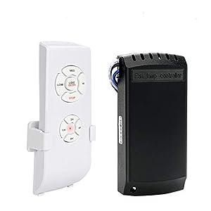 E-More Mando a Distancia Universal para Ventilador de Techo, tamaño pequeño, con 3 ajustes de Velocidad y Control de luz, Mando a Distancia inalámbrico con opción de Silencio