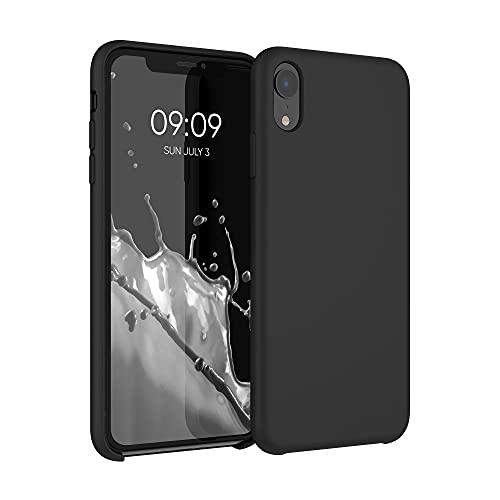 kwmobile Hülle kompatibel mit Apple iPhone XR - Hülle Silikon gummiert - Handyhülle - Handy Hülle in Schwarz matt