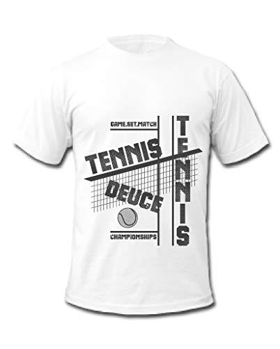 Cold Gun Tennis Championships Game, Set, Match T-Shirt Gr. L, weiß