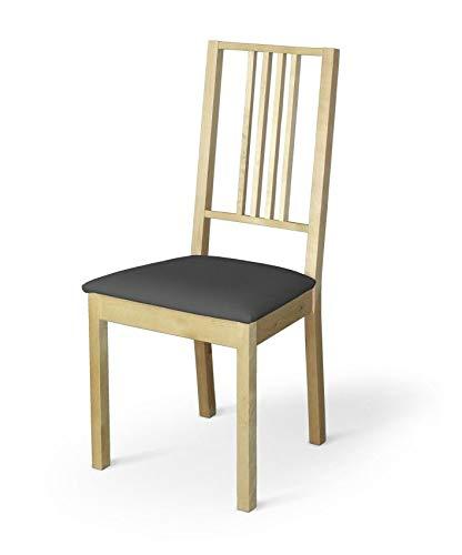 Dekoria Börje Sitzbezug Stuhlbezug Stuhlkissen passend für IKEA Modell Börjel grau