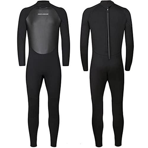FR&RF Traje de neopreno para mujer, de 3 mm, de neopreno, de una pieza, para invierno, de buceo, de manga larga, para deportes acuáticos, color negro, S