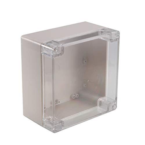 Sourcingmap–160x 160x 90MM/16x 16x 9cm IP67Wateproof ABS plastica giunzione progetto elettronico scatola alloggiamento case esterno/interno con copertura trasparente