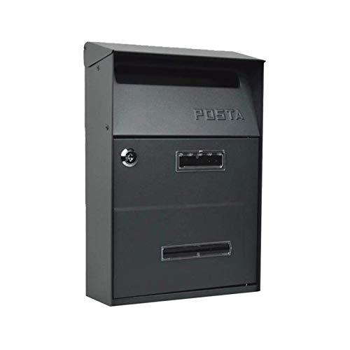JINDEN Retro dekorative Mailbox, Hausmontierter Brief im Freien und besuchen Sie das Vorschlagsfeld mit Schloss- und Regenschutzbuchstaben