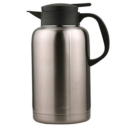 SJQ-coffee pot CafetièRe IsoléE en Acier Inoxydable - Bouteille d'eau en Verre à Double Isolation avec PoignéE RéSistante à la Chaleur pour la Maison, Le Bureau Ou la FêTe, 2l, 6 Tasses