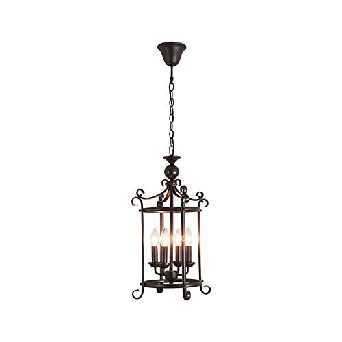 William 337 La lámpara de araña está hecha de material de hierro forjado, después de hornear de alta temperatura, la pintura es incluso, resistente a la corrosión y anti-óxido de hierro forjado con ca