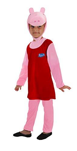 Ciao- Peppa Pig Costume Tutina Travestimento Originale Bambina (Taglia 2-3 Anni), Colore, 11290.2-3