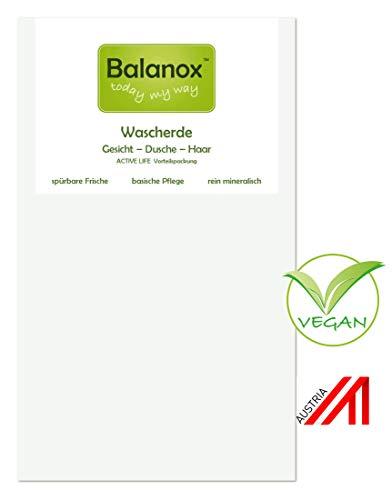 Balanox Wascherde-Nachfüllung | 100% weiße Lavaerde-Tonerde Pulver 1800ml (~1,25kg) | als Gesichtspeeling, Maske, mineralisches basisches Duschgel, Basenbad, natürliches Tonerde-Shampoo