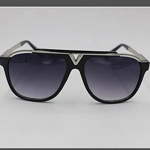 N/A Gafas de Sol para Hombre Gafas de Sol para Mujer Gafas de Sol de Marca Gafas de Sol Casuales para Hombre Gafas de Estrella de Moda marrón
