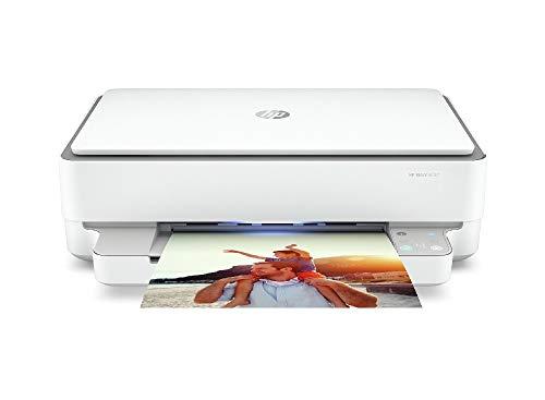 HP Envy 6032 (5SE19B) Stampante Multifunzione a Getto di Inchiostro, Stampa, Scansiona, Foto, Wi-Fi Dual-Band, USB 2.0, A4, HP Smart, 6 mesi di Instant Ink inclusi nel prezzo, Grigia