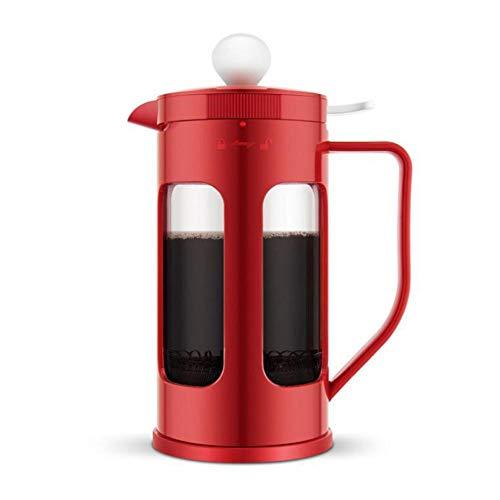 Cafetera, Prensa Cafetera Prensa Cafetera Colador Olla para Home Office 1000mL (Rojo/Verde)
