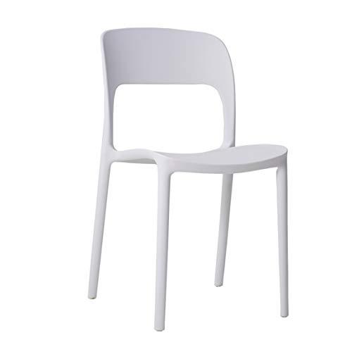 PLL Restaurant-Wartestuhl-nordischer Freizeit-Esszimmer-Stuhl-Plastikstuhl, Bananen-Stuhl, weiß