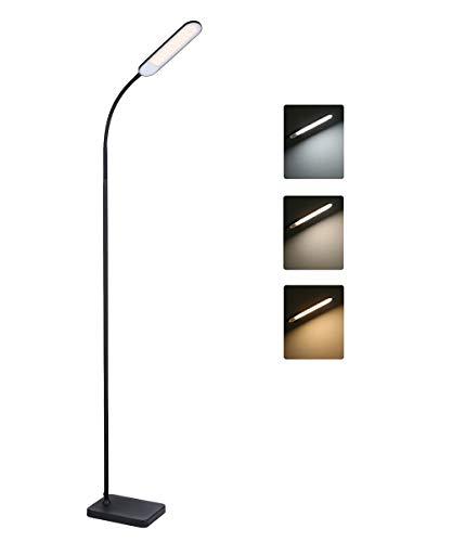 Stehlampe,Tomshine LED 12W Stehleuchte Touching Control Hohe Lumen 3 Farbtemperaturen stehlampe led dimmbar für Schlafzimmer Wohnzimmer Büro