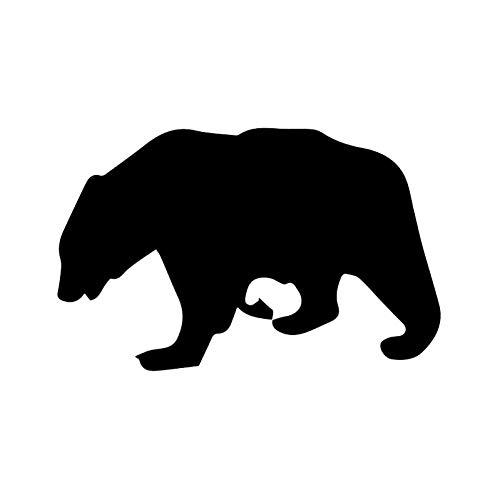 GQQ Auto-Aufkleber 15.2 * 9.6Cm Interessanter Braunbär Aufkleber Woodland Wild Animals Decor Autoaufkleber Vinyl Der Perfekteste Aufkleber
