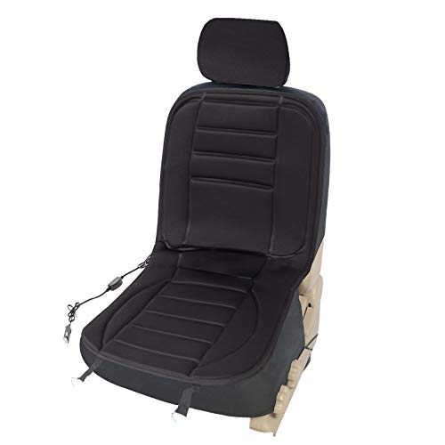 WOLTU HF001sz Sitzheizung Auto Heizkissen Heizauflagen Heizung für Sitz & Rücken Überhitzungsschutz 12V 98 cm x 48 cm Schwarz