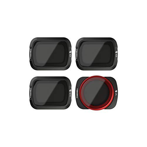 Freewell Standard Day - 4K-Serie - 4Pack ND4, ND8, ND16, CPL Camera Lens Filter Kompatibel mit Osmo Pocket, Pocket 2