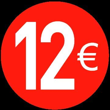 Price stickers euro - 13 mm, 12 ?, 120