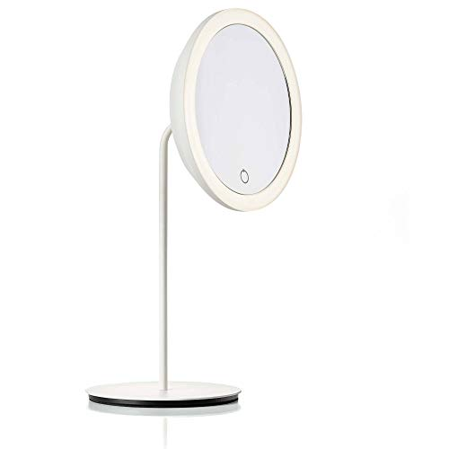 ZONE DENMARK Table Mirror with Magnifying Light Colour: Zone White