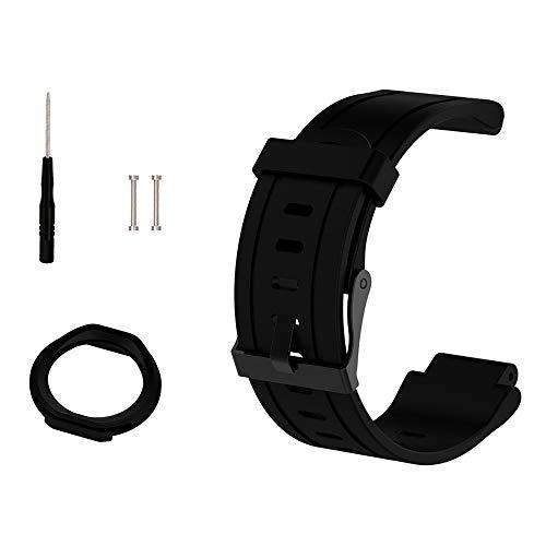 Cyeeson Garmin Forerunner 225 GPS Running Watchband, Replacement Soft Silicone Wrist Strap Watch Band for Garmin Forerunner 225 GPS Running Watch