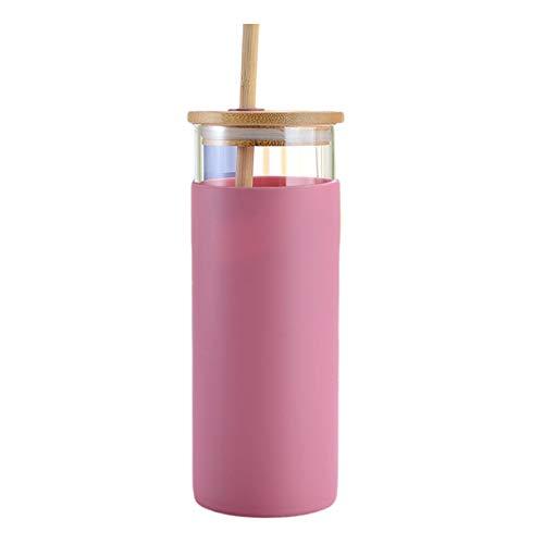Botella de agua para adolescentes y adultos, vasos con tapas y pajitas, duradera sin BPA ni BPS, botella de agua potable de 500 ml (morada, 500 ml)