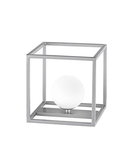 Wofi Aurelia 8341.01.64.8000 - Lámpara de mesa (1 bombilla, níquel mate)