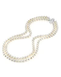Double Strand White Freshwater Cultured Pearl Necklace
