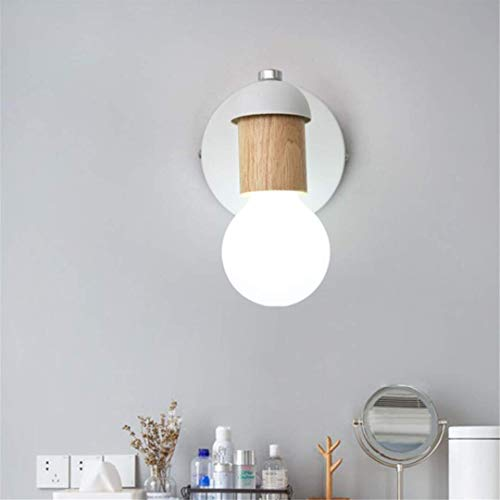 L-C plafondlamp Scandinavisch minimalistisch massief hout wit wandlamp creatieve siel trap licht muur decoratie houten nachtlampje slaapkamer wandlamp