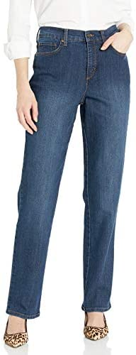 GLORIA VANDERBILT Women s Petite Amanda Classic High Rise Tapered Jean Scottsdale Wash 14P Short product image