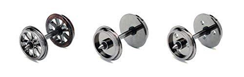 Hornby R8096 10 Lot de 10 Roues/essieux Calibre 00 Roues et Plaque Frontale Accessoire