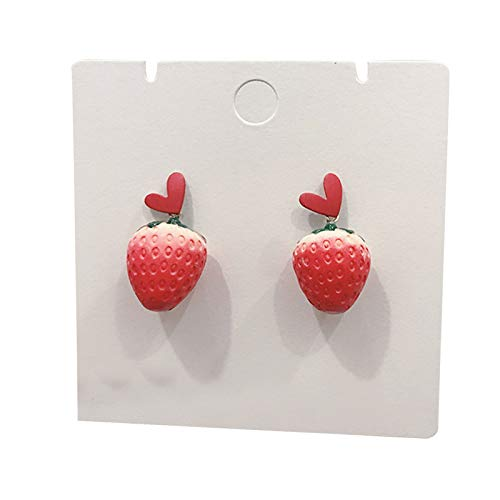 XIHUANNI - Orecchini a forma di fragola con ciliegie, resistenti, ideali come regalo per le donne