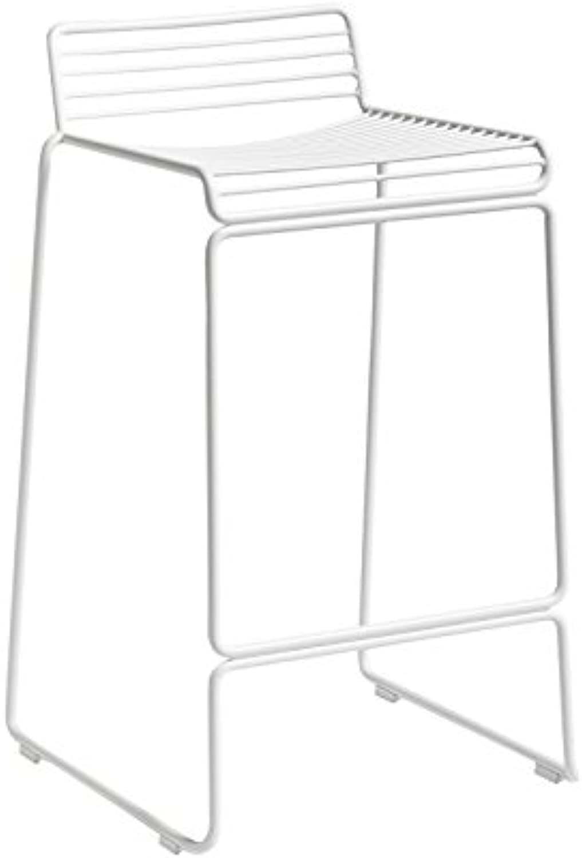 HEE Barhocker 65, wei lackiert 43x45x76cm Sitzhhe  65cm für Innen- und Auerbereich geeignet