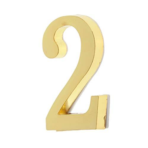 IPOTCH Placa Número Dígitos Señal Puerta Autoadhesiva