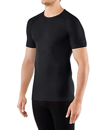 FALKE Herren Kurzarmshirt Cool, Shirt Kurzarm aus Funktionsfaser - atmungsaktiv, 1 er Pack, schwarz (Black 3000), Größe: XL