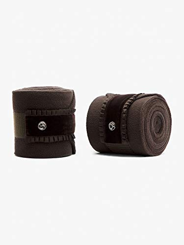 PS of Sweden Fleece-Bandagen Ruffle, 4er Satz in Coffee