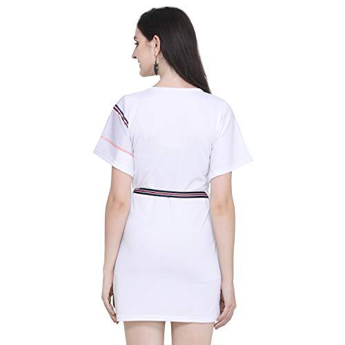 J B Fashion Printed Lycra Fabric Women Dress with Half Sleeves for Fancy Dress,Stylish Dress, Casual Wear Dress for Women/Girls Dress
