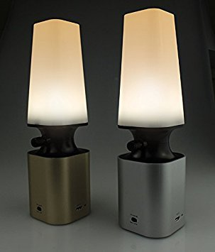 SSA Table Lamps LED Night Light, Portable Battery Powered Light for Bedside, Bedroom, Bathroom, Hallway, Kitchen (Gold)