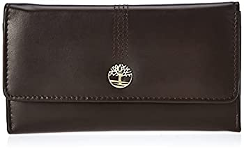 Timberland Women s Leather RFID Flap Wallet Clutch Organizer Brown  Cloudy  One Size