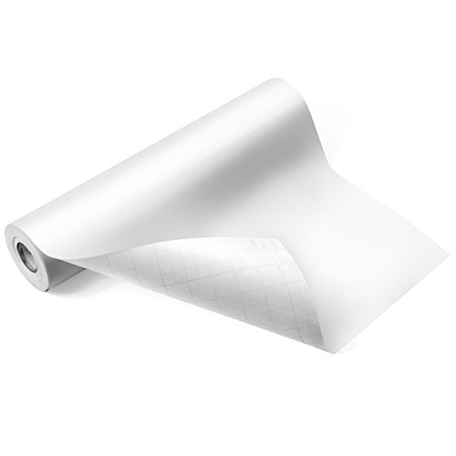 """Glossy White Adhesive Vinyl Roll - HUGE Glossy Adhesive Permanent White Vinyl Rolls - 12""""x40FT White Vinyl Sheets are The BEST Vynil - EZ Craft USA White Vinyl Wrap Works with Cricut and Other Cutters"""