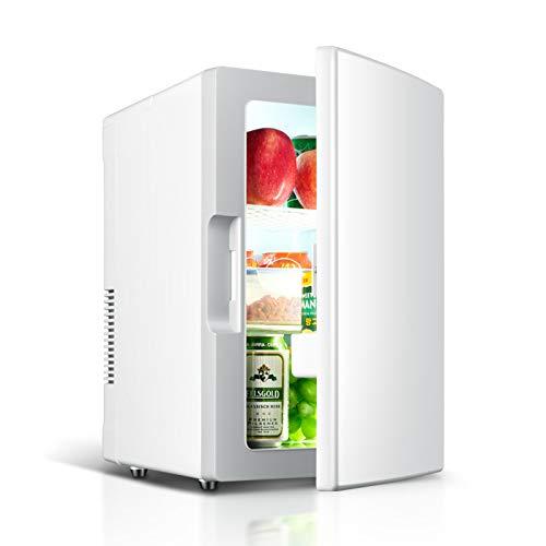 Mini Nevera, Mini Refrigerador Personal Portátil, Refrigerador Pequeño De 18L, Refrigerador Pequeño Y Calentador AC + DC Opciones De Compatibilidad De Potencia Para El Dormitorio Para El(Color:blanco)