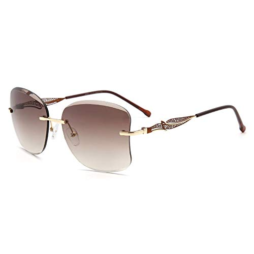 LDH Gafas De Sol para Las Mujeres De Gran Tamaño Lente De Corte De Diamantes De Gran Tamaño UV PROTECCIÓN para Mujeres Gafas De Sol De Moda Gafas De Sol Tachuelas con Diamante Tridimensionales