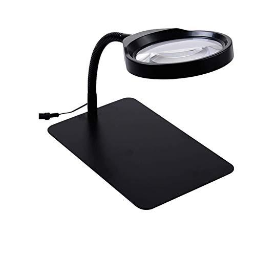 Lupas para lectura, Coser, Pegar Piezas Pequeñas 10 veces lupa de enchufe de lámpara de mesa multifuncional de alta definición para leer el mantenimiento de la placa de circuito electrónico