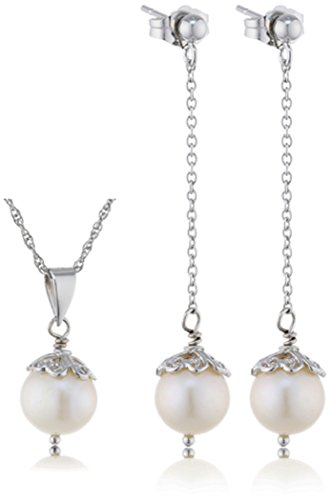 Sakura Pearl - Juego de joyas de plata con perla