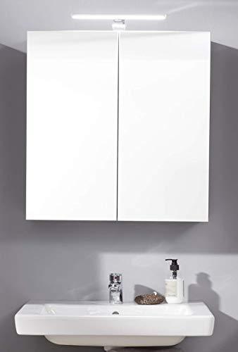 trendteam smart living Skin Badezimmer Spiegelschrank Spiegel, Korpus Grau mit viel Stauraum, Front Spiegelglas, 60 x 67 x 18 cm