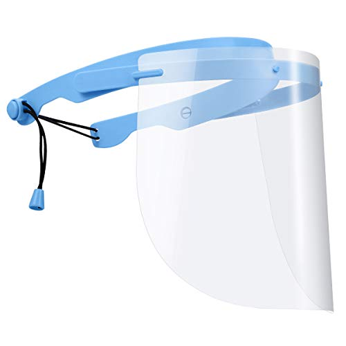 (2021 Upgraded) AMIR Detachable PVC Face Cover for Cycling Travel Kitchen Industrial (1Frame+10...