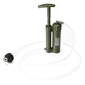 WRF Purificateur d'eau extérieur de 2000 litres, purificateur d'eau Personnel d'urgence pour Le Camping, Test de détection des Virus et métaux Lourds 0,01 Micron, Convient à la Survie en Plein air