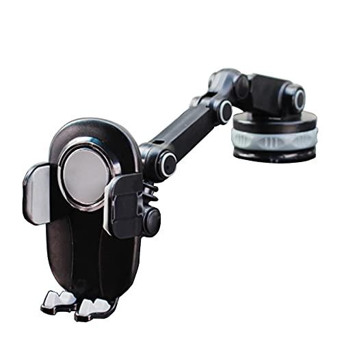 DJXLMN Soporte De Navegación para Automóvil, Soporte para Teléfono con Ventosa para Automóvil, Uso En La Consola Central del Automóvil,Gris