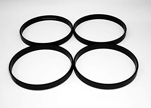 4 Randfelgen Bügel 76 - 72.6 für Aluminium-Felge AEZ ALUTEC Shingle ATS Kennzeichenhalter Dotz Enzo Mak Matrix Paltin Raiden Rial Speedline TSW