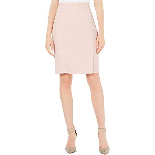 Calvin Klein Womens Petites Textired Business Pencil Skirt Pink 14P